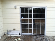 Door and Siding Before